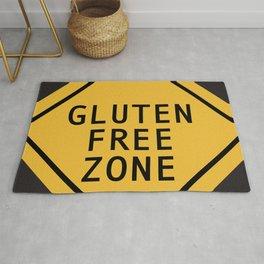 Gluten Free Zone in black Rug