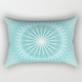 Turquoise Aqua Mandala Rectangular Pillow