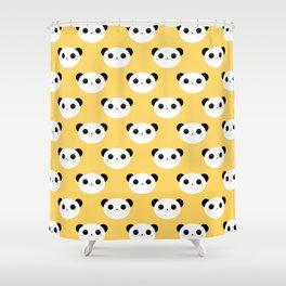 Happy Panda Face Pattern Shower Curtain