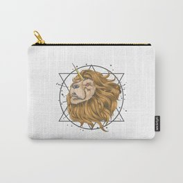 Lion Horn Unicorn Gold Hair Carry-All Pouch
