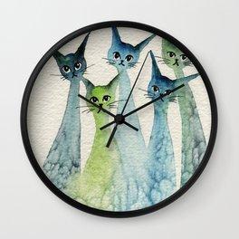 Lakeland Whimsical Cats Wall Clock
