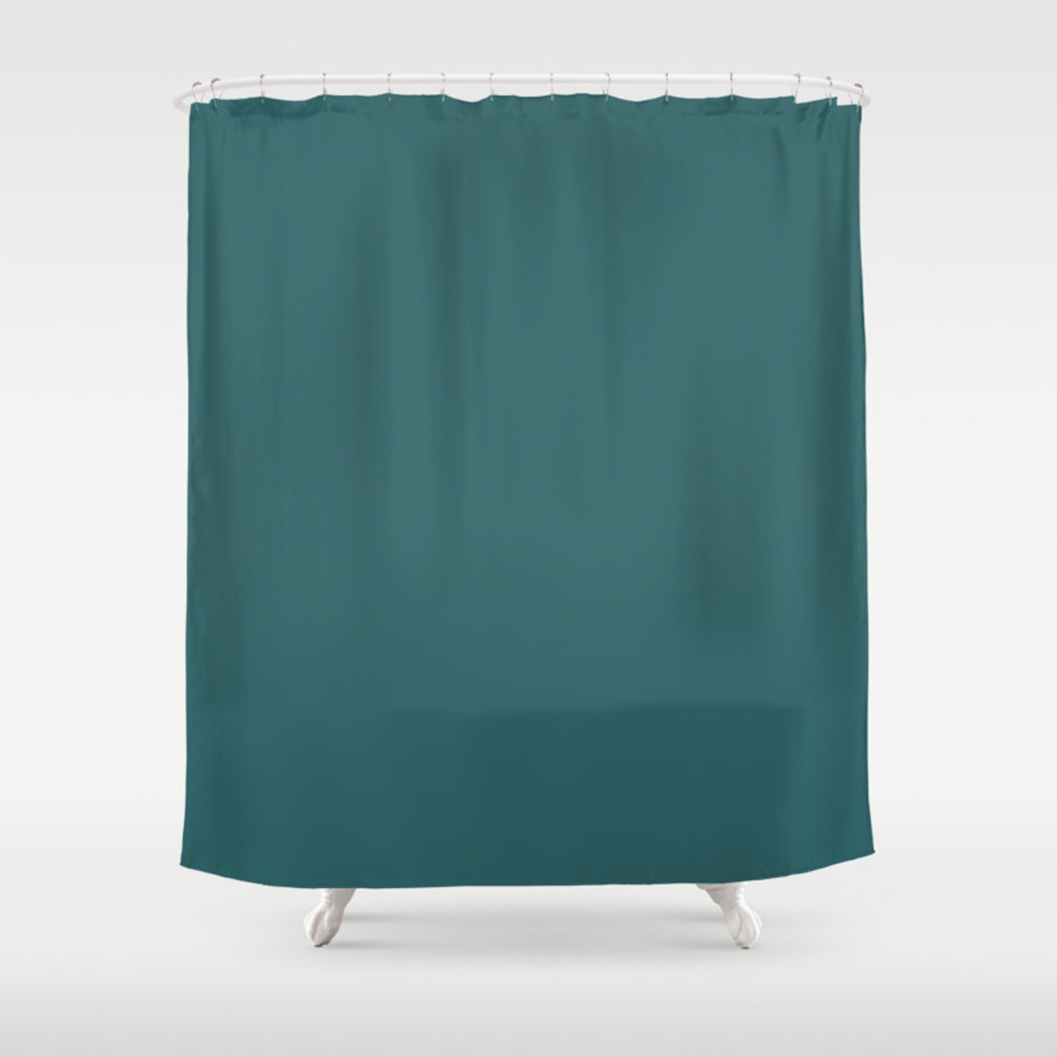 Solid Color Dark Teal Shower Curtain By Shabbyhappydesigns Society6