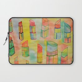 Watercolor Lipstick Laptop Sleeve