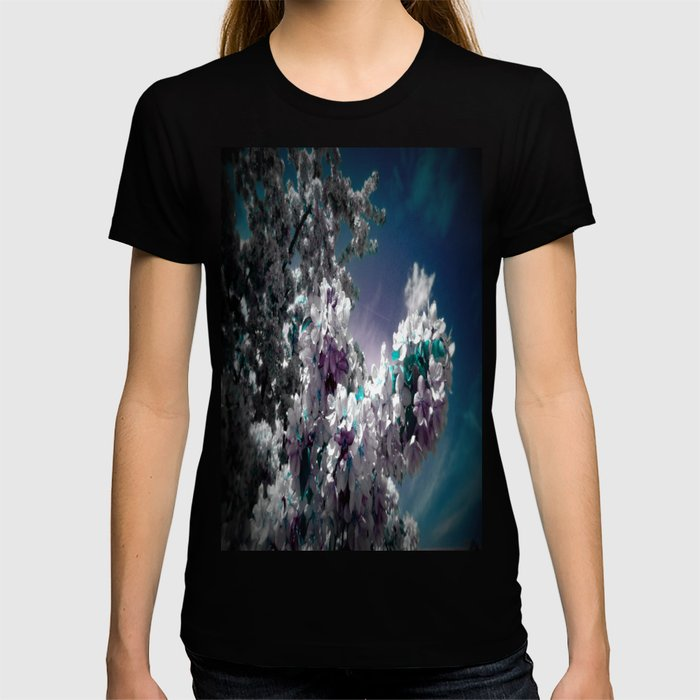 Flowers Purple & Teal T-shirt