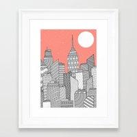 skyline Framed Art Prints featuring Skyline  by  Steve Wade ( Swade)