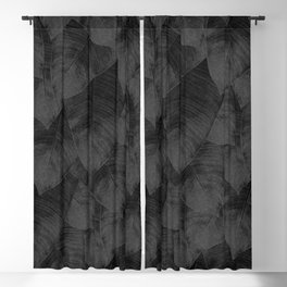 Banana Leaf Black & White I Blackout Curtain