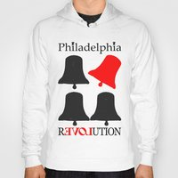 philadelphia Hoodies featuring rEVOLution Philadelphia by Humboldtarian