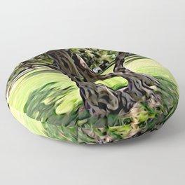 Dance of the Olive Tree Floor Pillow