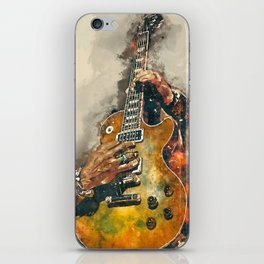 slash's electric guitar, guitar wall art, studio decor, music room decor, gift for guitarists iPhone Skin