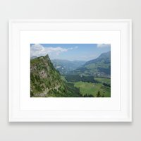 switzerland Framed Art Prints featuring Switzerland by Melfaber