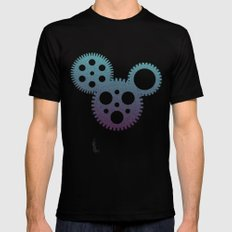 mickey mouse mechanisms Mens Fitted Tee Black LARGE