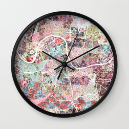 Nashville map Wall Clock