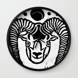 Mystical Goat Wall Clock
