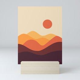 Geometric Landscape 21 Mini Art Print