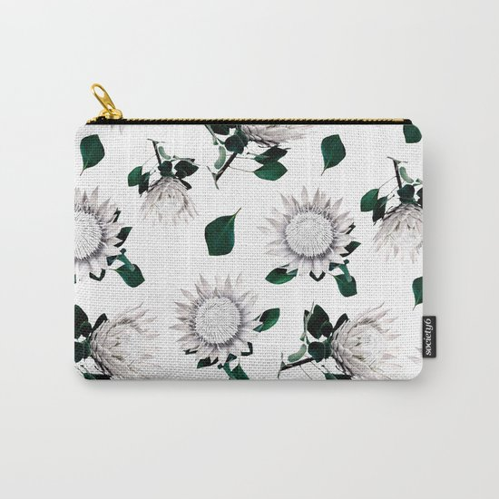 Protea Floral Pattern Carry-All Pouch