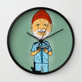 The Life Aquatic with Steve Zissou - Bill Muray Wall Clock