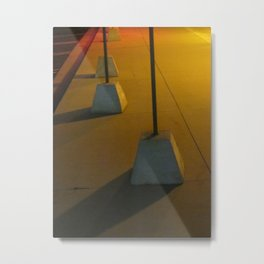 Marching In Yellow Metal Print