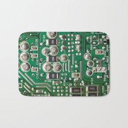 Circuit Board Macro Bath Mat
