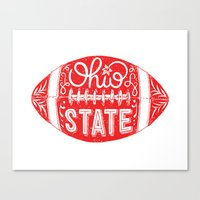 ohio state Canvas Prints featuring Ohio State Football by Kasi Turpin