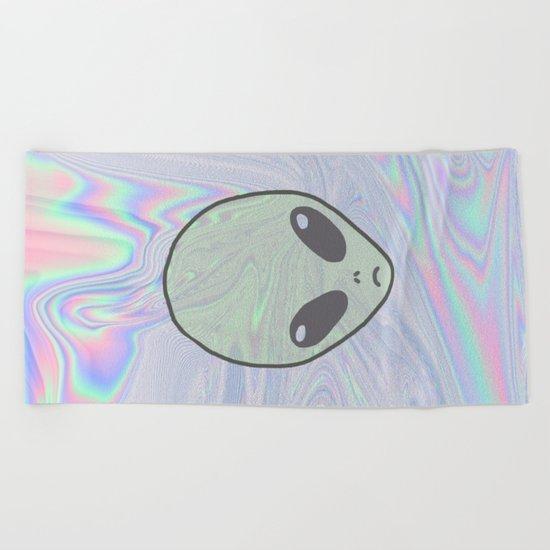Alien Pastel Beach Towel