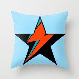Bowie BlackStarDust (Blue) Throw Pillow