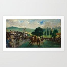 "Édouard Manet ""The Races at Longchamp"" Art Print"