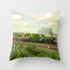 Flying Scotsman at Bristol Temple Meads Throw Pillow
