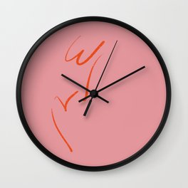 Original W&V in pink Wall Clock