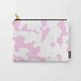 Large Spots - White and Classic Rose Pink Carry-All Pouch