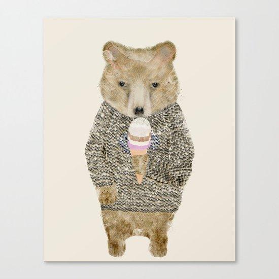 sundae bear Canvas Print