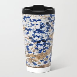 Peeling Blue Flowers Metal Travel Mug