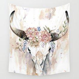 Rustic Boho Longhorn Wall Tapestry