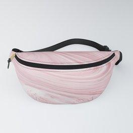 Soft Bubblegum Pink Marble Pattern Fanny Pack