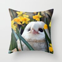 rocky Throw Pillows featuring Rocky by Astrid Ewing