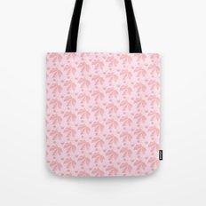 Horse Chestnut leaf and conker pale pink pattern Tote Bag