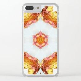 Dragonfly Mandala I Clear iPhone Case