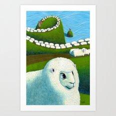 Year of the Sheep 未 年賀状 Art Print