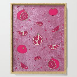 Crushed Pomegranate Serving Tray