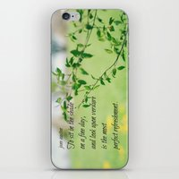 jane austen iPhone & iPod Skins featuring Jane Austen Refreshment by KimberosePhotography