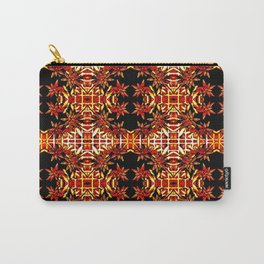 Traditional Christmas Star Pattern Carry-All Pouch