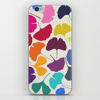 camus iPhone & iPod Skins featuring Ginkgo Multicolor by Garima Dhawan