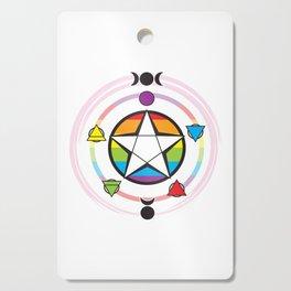LGBT Elemental Pentagram Cutting Board