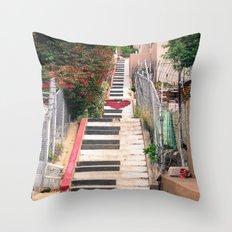 Piano <3 Staircase Throw Pillow
