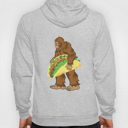 Bigfoot Carrying A Taco Cinco De Mayo design Hoody