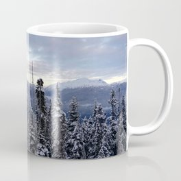 Snowy spruces frontier Coffee Mug
