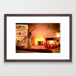 Warm still life Framed Art Print
