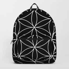 Flower of Life Black & White Backpack