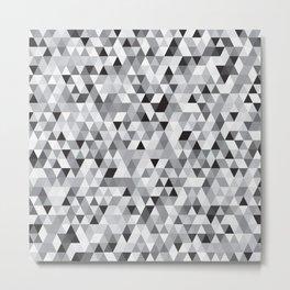 Grey tiny Triangles Metal Print