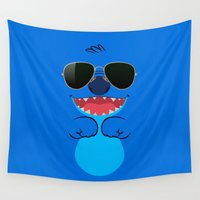 stitch Wall Tapestries featuring COOL STITCH by alexa