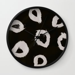 Round, Abstract, White & Black Wall Clock